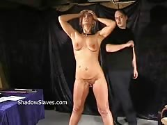 Bizarre caning to tears and hardcore spanking of crying Crystel Lei
