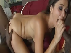 Dirty MILF DP'd and Facialed by 3 Black Cocks