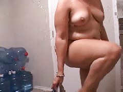 Curvy amateur BBW slut is being fucked in the doggy style pose