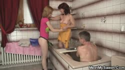 He finds her in 3some orgy with his parents