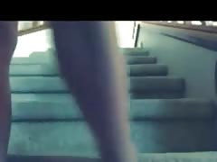 Ani Huger squirt no hands on stairs