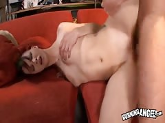 Deep banging with horny emo babe with short haircut
