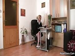 Rage cock riding for his slut