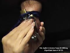 Tease & Denied In Chastity In Gloryhole By Ms. Sadie