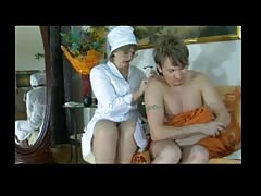 Russian Nurse Takes Care of Young Boy BVR