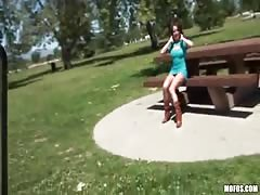 Outdoors porn with a young teeange beauty who is pretty risky for her age