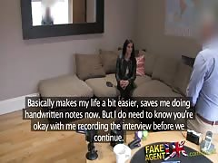 FakeAgentUK Hot amateur tattooed babe wants to be a porn star